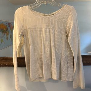 Cream Long Sleeve Top from Hollister